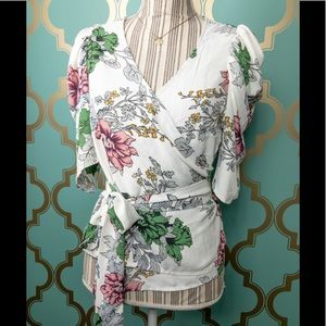 Tops - Roly Poly Floral Wrap Shirt